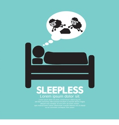 Sleepless person symbol vector