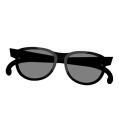 Black and grey sunglasses graphic vector