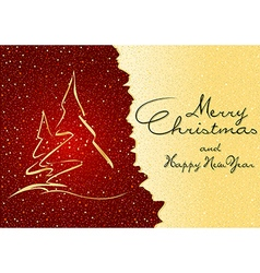 Abstract Christmas Greeting vector image