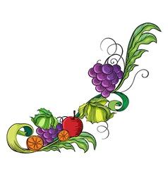 A fruity border vector image vector image