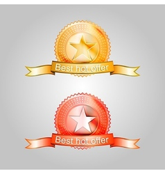 badges for the best offer vector image vector image