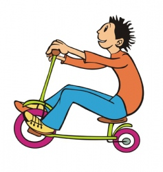 boy on a bike vector image vector image