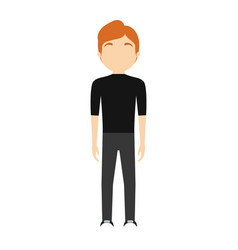 character man faceless image vector image