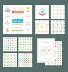 Christmas labels and badges design elements vector
