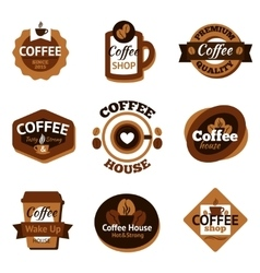 Coffee Labels Set vector image