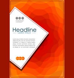 cover design in a4 with wavy orange abstract lines vector image vector image