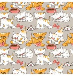 funny cartoon kitten vector image vector image