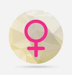 Male flat icon on geometric background vector