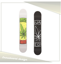Medical marijuana snowboard four vector