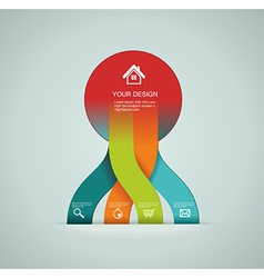 Modern origami style number options banner vector