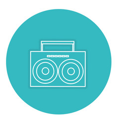Music player vintage style vector