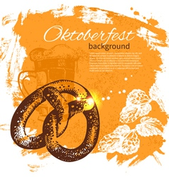 Oktoberfest vintage background vector image