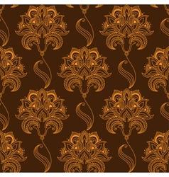 Oriental stylized paisley flourish seamless vector image vector image