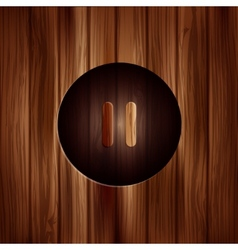 Pause iconmeida player button wooden texture vector
