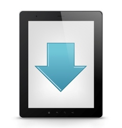 Tablet PC with arrow vector image vector image