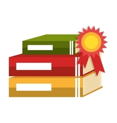 Text book education icon vector