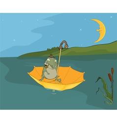 Travel of a frog Cartoon vector image vector image