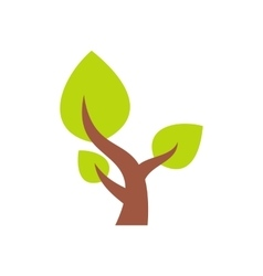 Tree saving plants flat icon vector image vector image