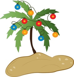 Tropical christmas vector
