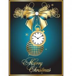 vector Christmas card vector image vector image