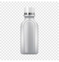 Plastic bottle icon realistic style vector