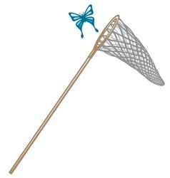 Butterfly net vector