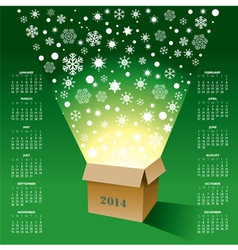 2014 christmas box calendar vector