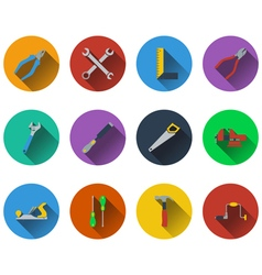 Set of tools icons in flat design vector