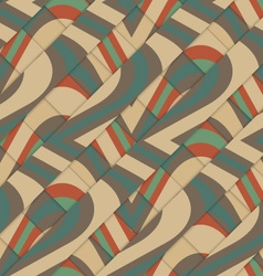 Retro 3d diagonal stripes crossing with waves vector