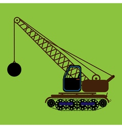 Color icon with construction equipment vector