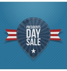 Blue label with presidents day sale text vector