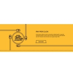 Pay per click design concept style vector