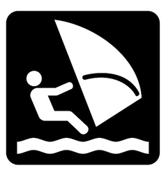 Wind surfing icon vector