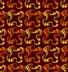 Abstract colored curlicues vector