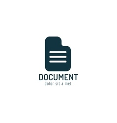 Abstract document paper sheet template logo icon vector image vector image