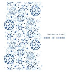 blue molecules texture vertical frame seamless vector image