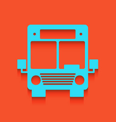 Bus sign whitish icon on vector