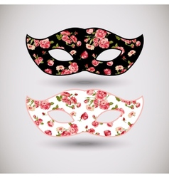 Carnival mask with floral pattern vector