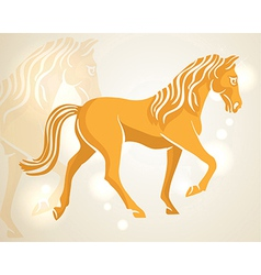 Chinese new year 2014 walking horse vector