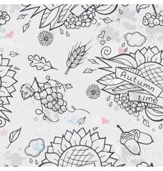 Contour seamless texture autumn theme vector