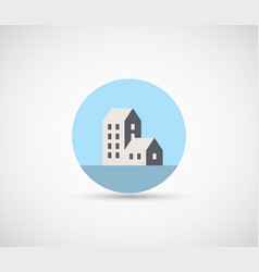 Creative web city icon in a flat style vector