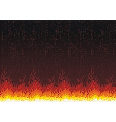 Fire flames grunge background vector image