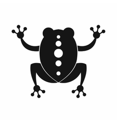 Frog icon black simple style vector