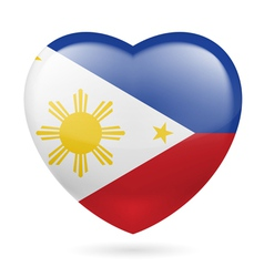Heart icon of philippines vector