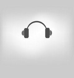 icon headphone call center vector image