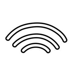 Line wifi digital symbol to digital information vector