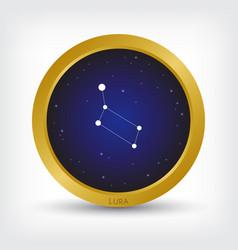 Lura constellation in golden circle vector