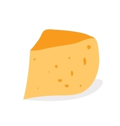 Piece of cheese isolated on a white background vector image