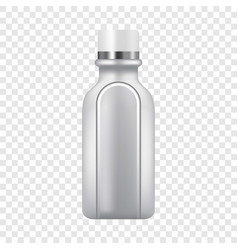 Plastic bottle icon realistic style vector
