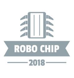 Robo chip logo simple gray style vector